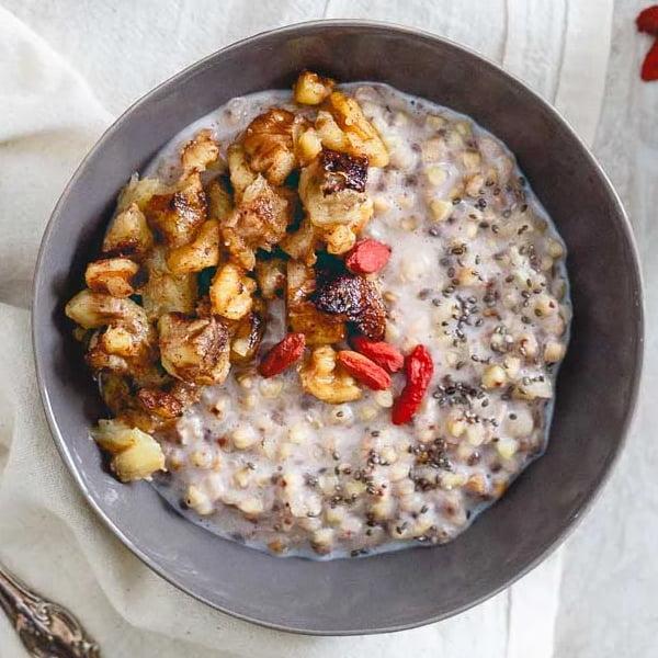 Warm Quinoa and Caramelized Bananas [vegan] via Pop Sugar