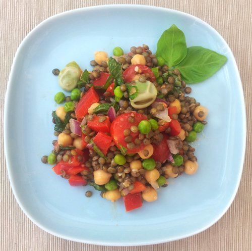 3 Beans and Lentils Salad [vegan] by The Flexitarian