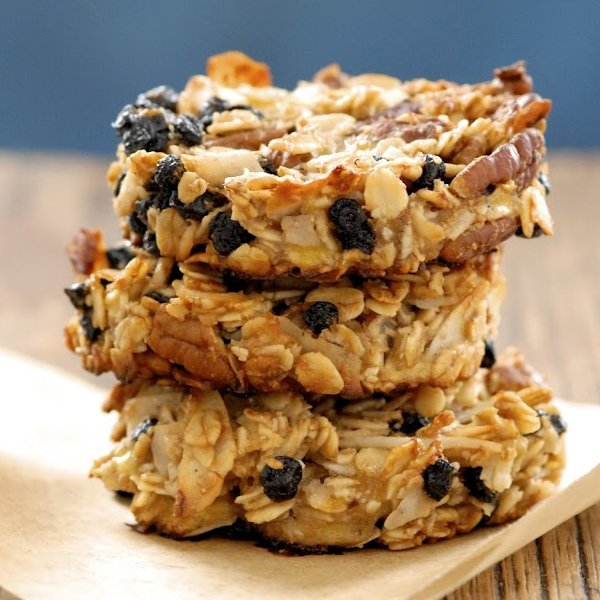 Blueberry Coconut Pecan Breakfast Cookies [vegetarian] by Kumquat Blog