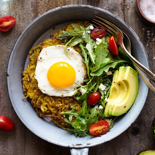 Curried Rösti [vegetarian] by Healthy Nibbles and Bits