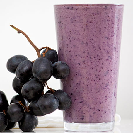 Grape-Berry Protein Smoothie [vegan] via Daily Burn