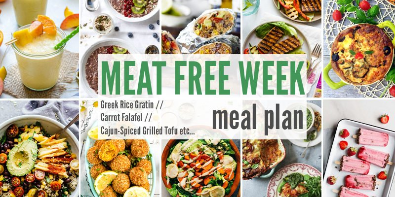Meat Free Meal Plan: Greek Rice Gratin, Carrot Falafel + Cajun-Spiced Grilled Tofu