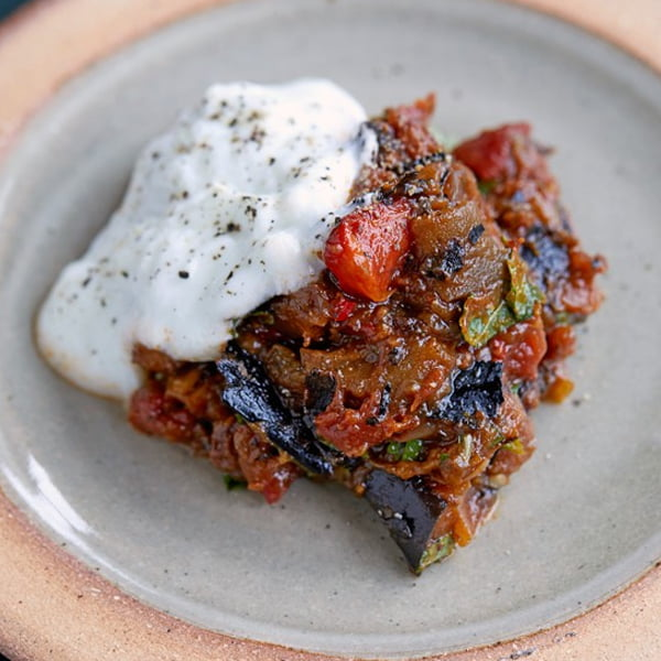 Spiced Aubergine and Tomatoes with Yogurt [vegetarian] via Olive Magazine