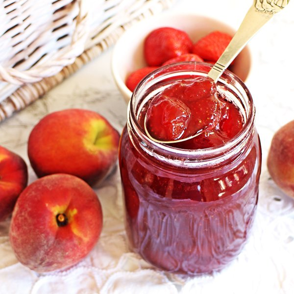 Strawberry & Peach Jam [vegan] by Fab Food For All