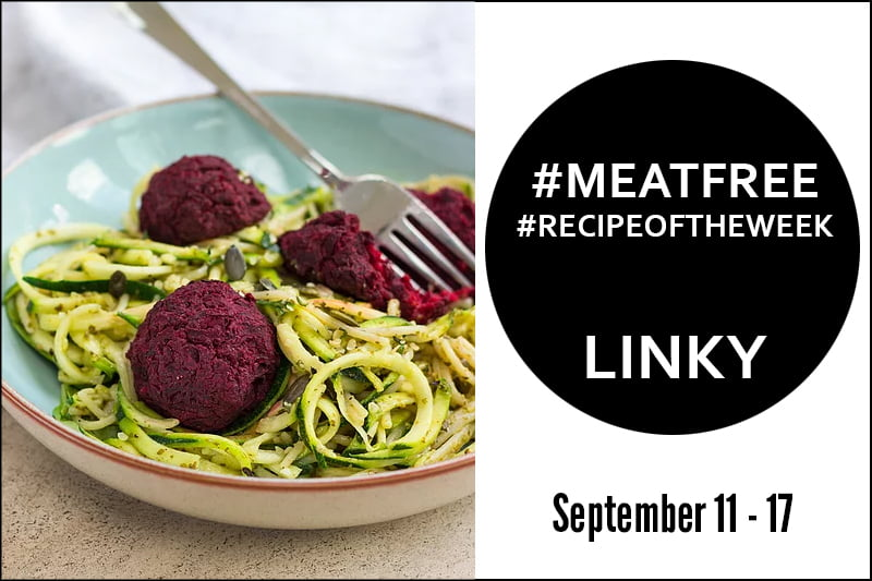Beetballs with Courgette Spaghetti + Link Up Your #MeatFree #RecipeoftheWeek September 11- 17
