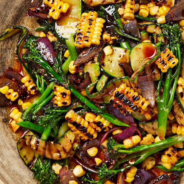 Chargrilled Summer Vegetables with a Cumin and Coriander Dressing [vegan] by Meera Sodha