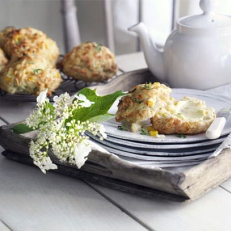 Cheddar & Sweetcorn Scones [vegetarian] by BBC Good Food