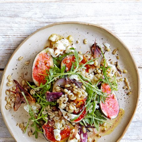 Fig, Roast red onion, Feta and Barley Salad [vegetarian] via Waitrose