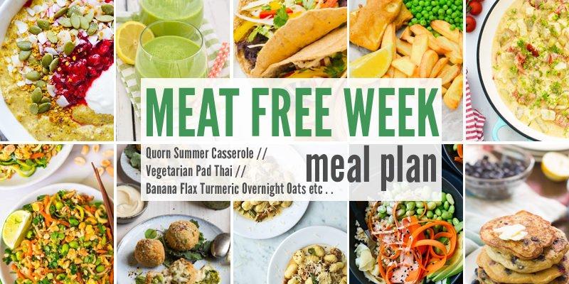 Meat Free Meal Plan: Quorn Summer Casserole, Vegetarian Pad Thai + Banana Flax Turmeric Overnight Oats
