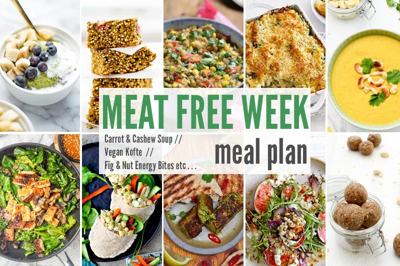 Meat Free Meal Plan: Carrot & Cashew Soup, Vegan Kofte + Fig & Nut Energy Bites