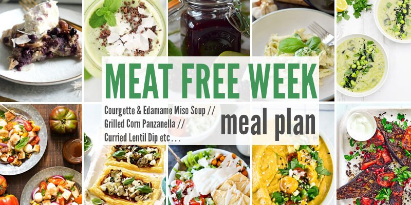 Meat Free Meal Plan: Courgette & Edamame Miso Soup, Grilled Corn Panzanella + Curried Lentil Dip