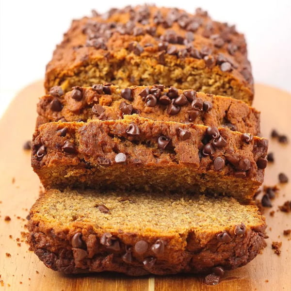 Peanut Butter Chocolate Chip Banana Bread [vegan] by Katalyst Health