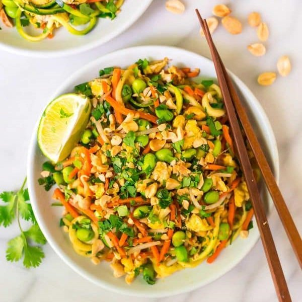 Vegetarian Pad Thai with Zoodles by Well Plated Erin