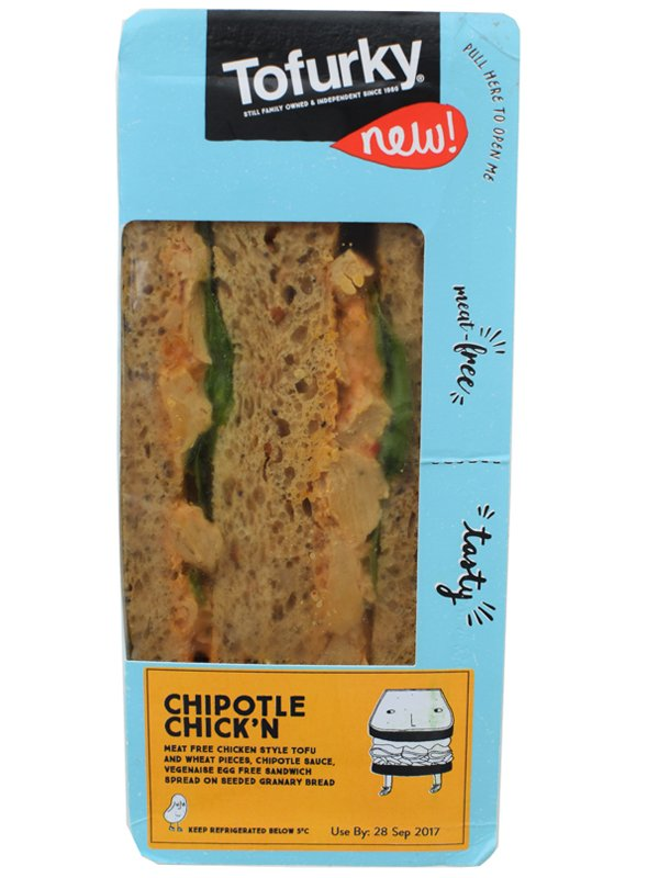Tofurky Chipotle Chickn Vegan Sandwich