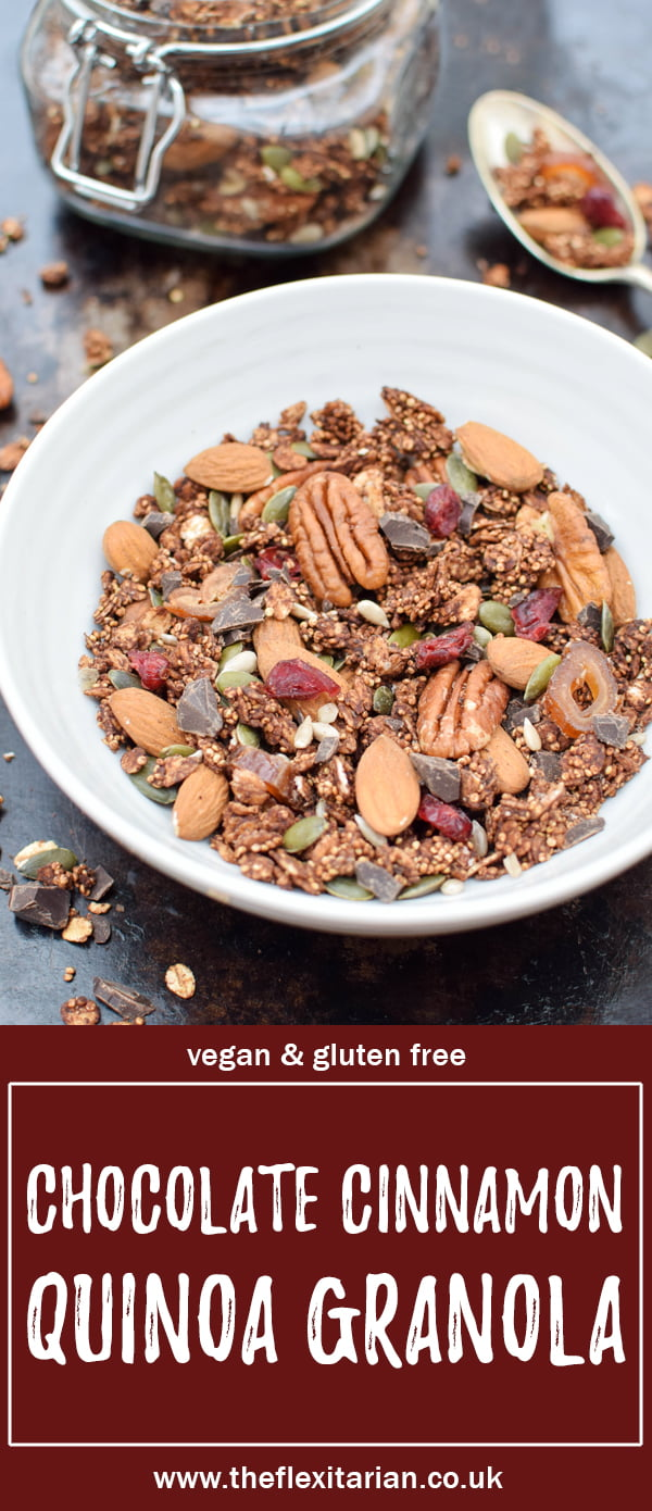 Chocolate Cinnamon Quinoa Granola [vegan] by The Flexitarian