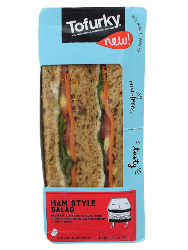 Tofurky Ham and Style Vegan Sandwich