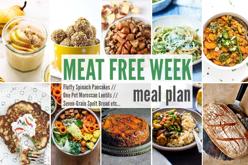 Meat Free Meal Plan: Fluffy Spinach Pancakes, One Pot Moroccan Lentils + Seven-Grain Spelt Bread