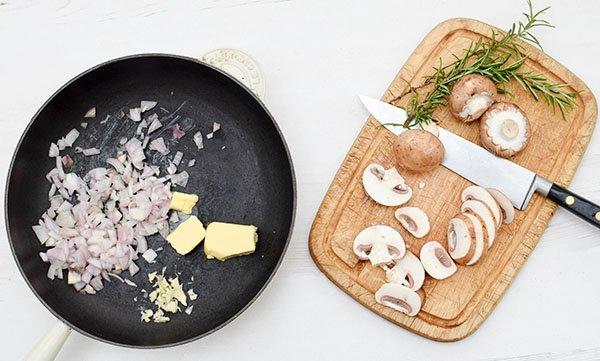 Mushroom & Potato Gratin Step 1