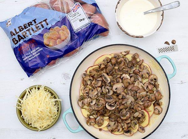 Mushroom & Potato Gratin Step 6