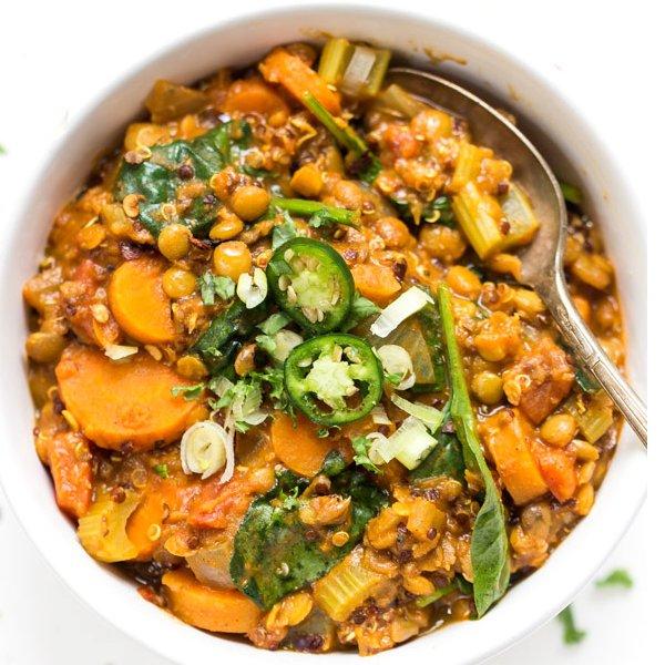 One Pot Moroccan Lentils + Quinoa [vegan] by Simply Quinoa