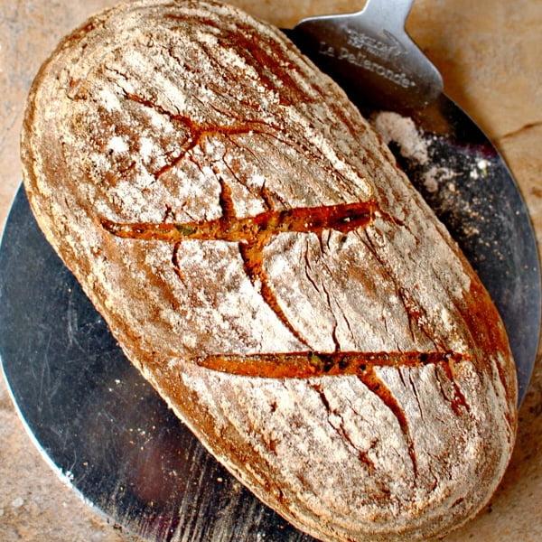 Seven-Grain Spelt Bread [vegan] by Food To Glow