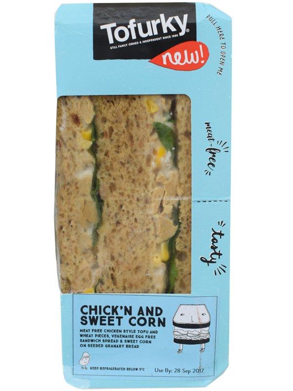 Tofurky Chickn and Sweetcorn Vegan Sandwich