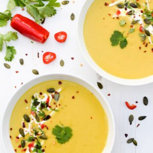 Butternut & Lentil Coconut Soup [vegan] by The Flexitarian