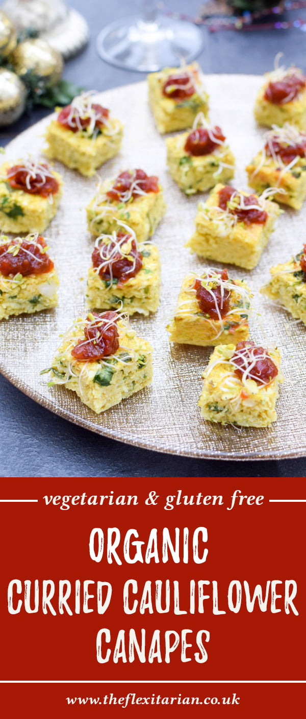 Curried Cauliflower Canapes [vegetarian] [gluten free] by The Flexitarian