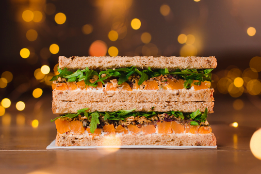Pret Veggie Christmas Lunch Sandwich