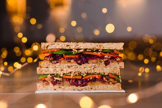 Very Merry Vegan Christmas Sandwich