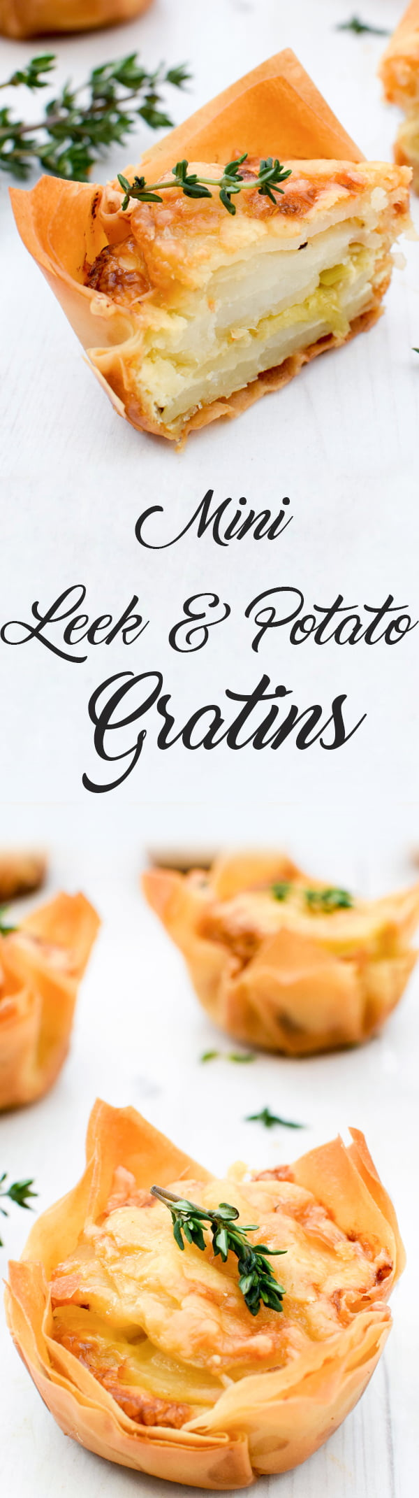Mini Leek & Potato Gratins [vegetarian] by The Flexitarian
