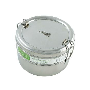 Two Tier Round Lunch Box - A Slice of Green
