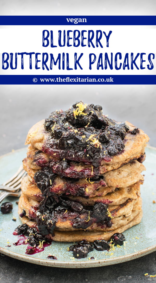 Blueberry Buttermilk Pancakes [vegan] by The Flexitarian