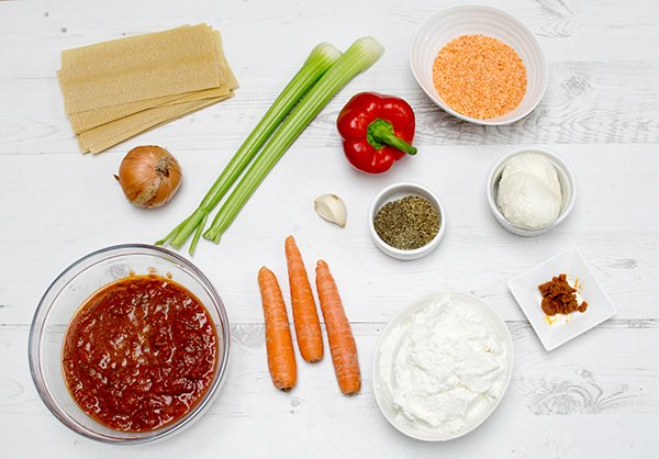 Slow-Cooker Vegetarian Lasagna Ingredients