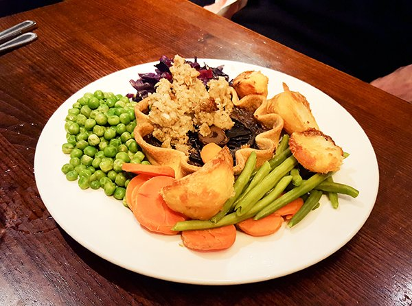 Toby Carvery Portobello Mushroom Bullseye Tart [vegan]