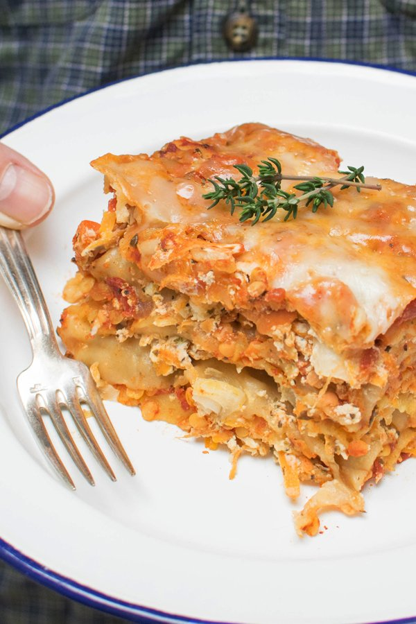Slow-Cooker Vegetarian Lasagna by The Flexitarian