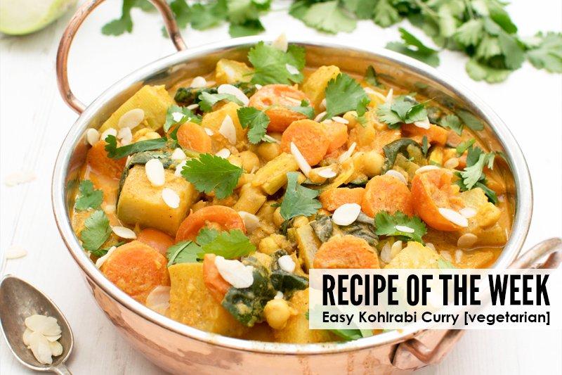 Easy Kohlrabi Curry [vegetarian]