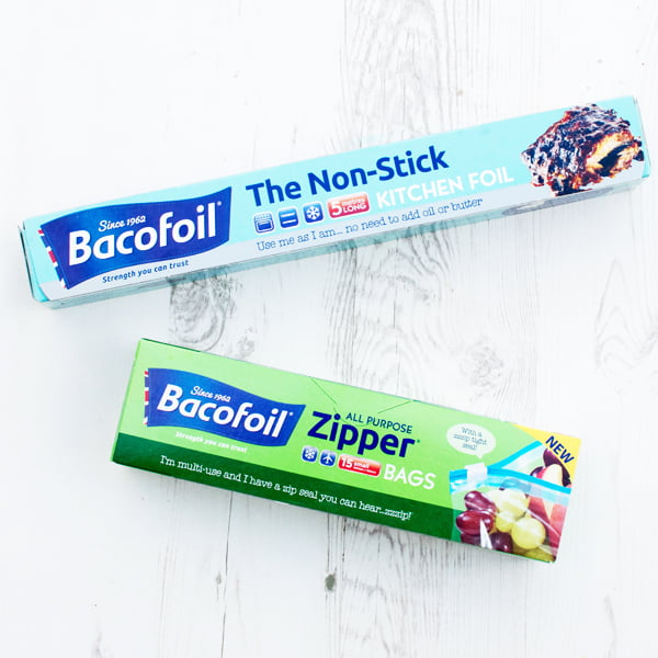 Bacofoil The Non-Stick Kitchen Foil and Bacofoil All Purpose Zipper Bags