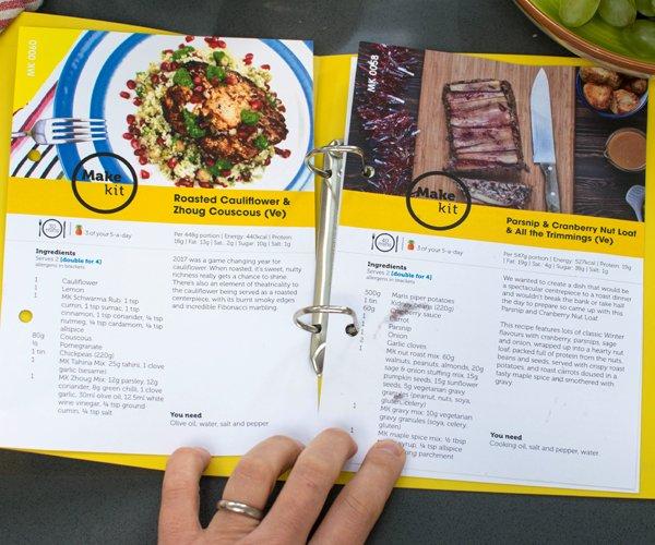 Make Kit Weekly Recipe Binder