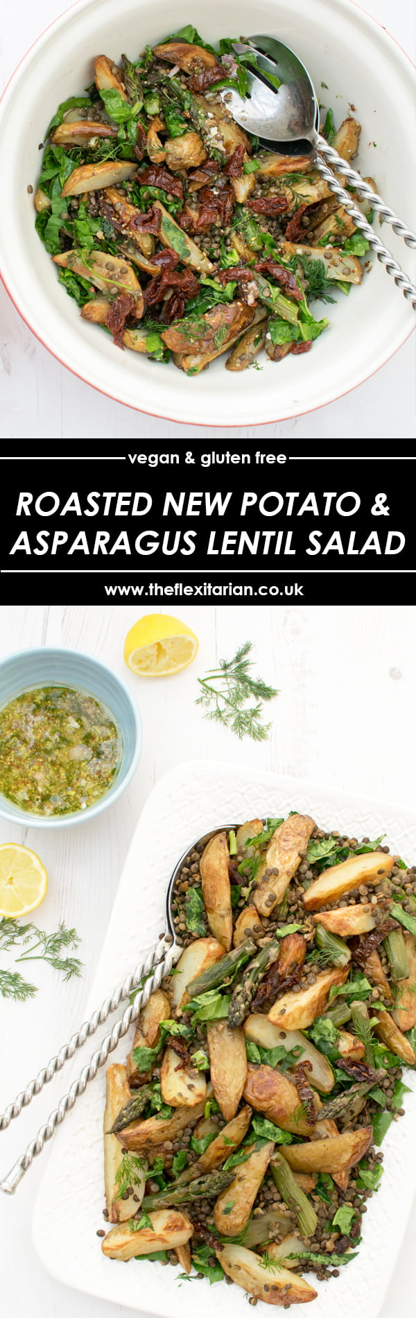 Roasted New Potato and Asparagus Lentil Salad [vegan] [gluten free] by The Flexitarian