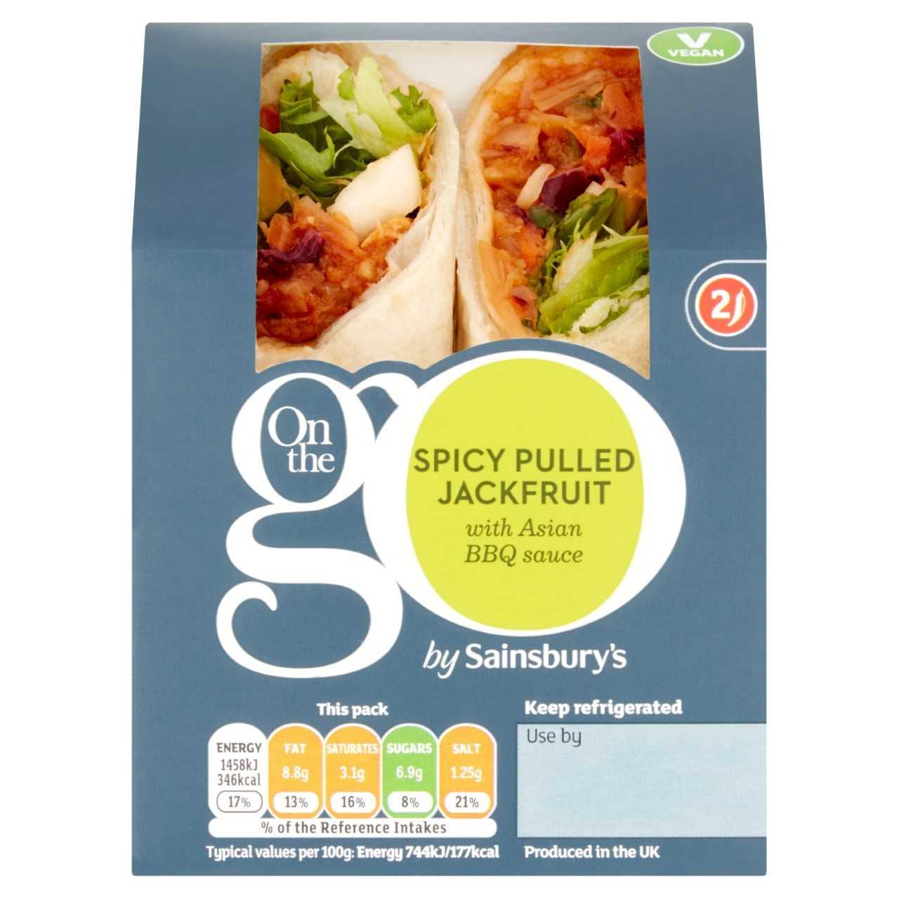 Sainsbury's Vegan Sandwiches Spicy Pulled Jackfruit Wrap