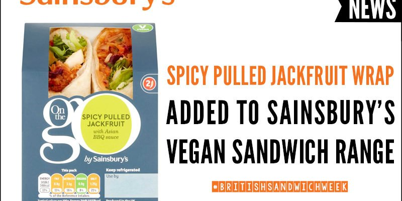 Spicy Pulled Jackfruit Wrap Added To Sainsbury's Vegan Sandwich Range