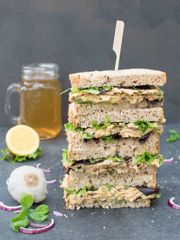 Chickpea Salad Sandwich [vegan] © The Flexitarian - Annabelle Randles