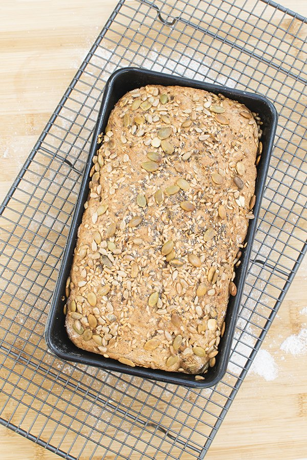 Seeded Wholemeal Bread Baked by The Flexitarian