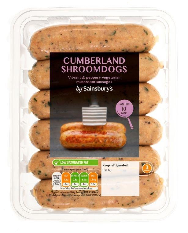 Sainsbury's Love Your Veg Cumberland Shroomdogs