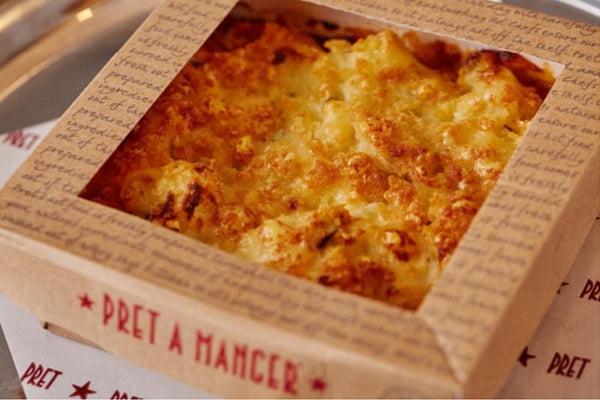 Veggie Pret Manchester Pret's Lasagne Macaroni Cheese, £5.50 v6