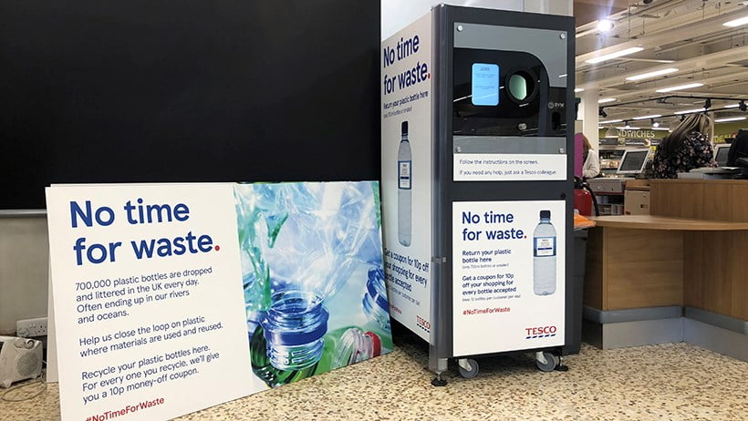 Plastic Waste Tesco - Bottle Recycling