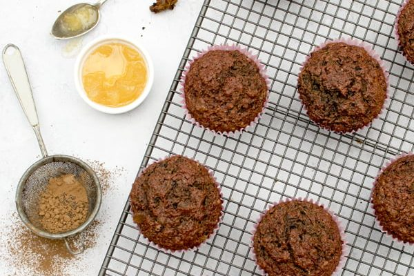 Ginger & Chocolate Beetroot Muffins [vegan] by The Flexitarian - Annabelle Randles © 2018