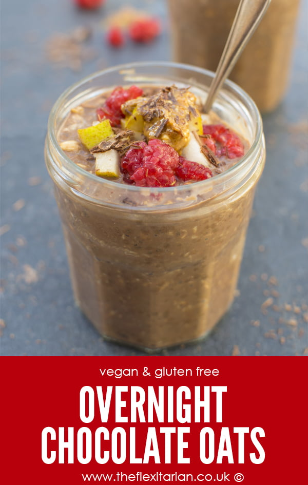 Overnight Chocolate Oats [vegan] by The Flexitarian - Annabelle Randles ©