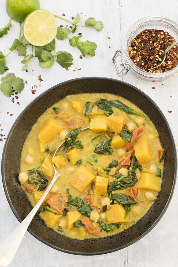 Butternut Squash And Chickpea Curry [vegan] [gluten free] © The Flexitarian - Annabelle Randles